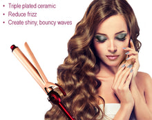 Load image into Gallery viewer, mr big curling iron, curling long hair, babybliss, baby bliss, curling iron for long hair, best curling iron for long hair, extra long barrel, extended barrel curling iron, beach waves, beachy waves, hot tools, Tress