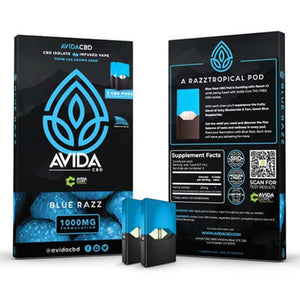 Avida CBD - CBD Cartridge - Blue Razz Pod - 20mg (2 Pack)