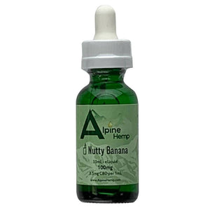 Alpine Hemp - CBD Vape - Nutty Banana - 100mg-300mg