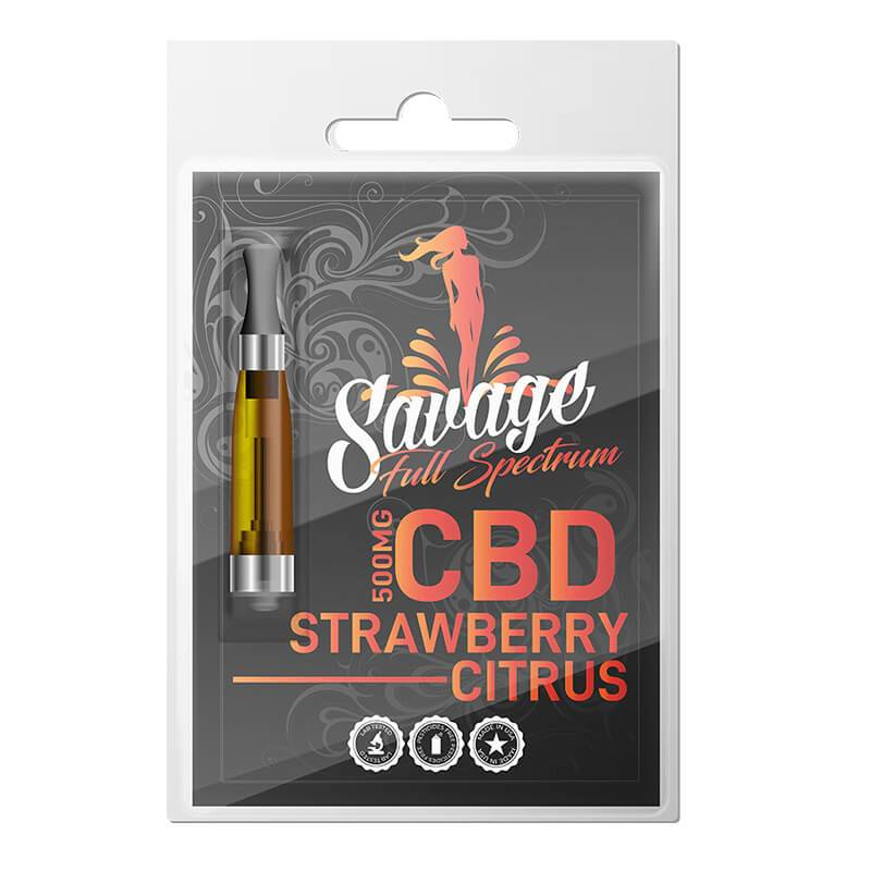 Savage - CBD Vape Cartridge - Strawberry Citrus - 500mg