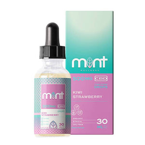 Mint Wellness - CBD Tincture - Kiwi Strawberry - 500mg-1000mg