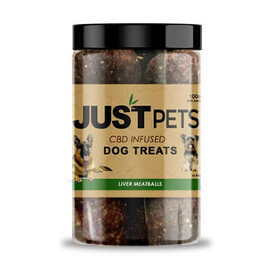 JustCBD - CBD Pet Treat - JustPets Liver Meatballs Dog Treats - 100mg