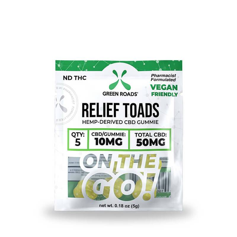 Green Roads - CBD Edible - Relief Toads OTG - 50mg
