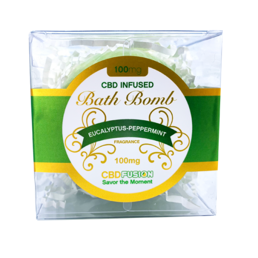 CBD Fusion - CBD Bath - Peppermint Bath Bomb - 100mg