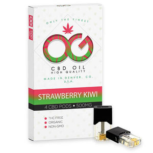 OG Labs - CBD Cartridge - Strawberry Kiwi CBD Pod - 500mg (4 Pack)