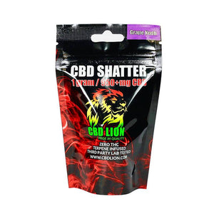 CBD Lion - CBD Concentrate - Grape Kush Shatter - 1 Gram