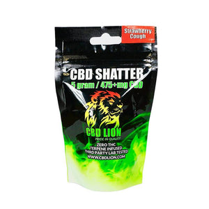 CBD Lion - CBD Concentrate - Strawberry Cough Shatter - 0.5 Gram