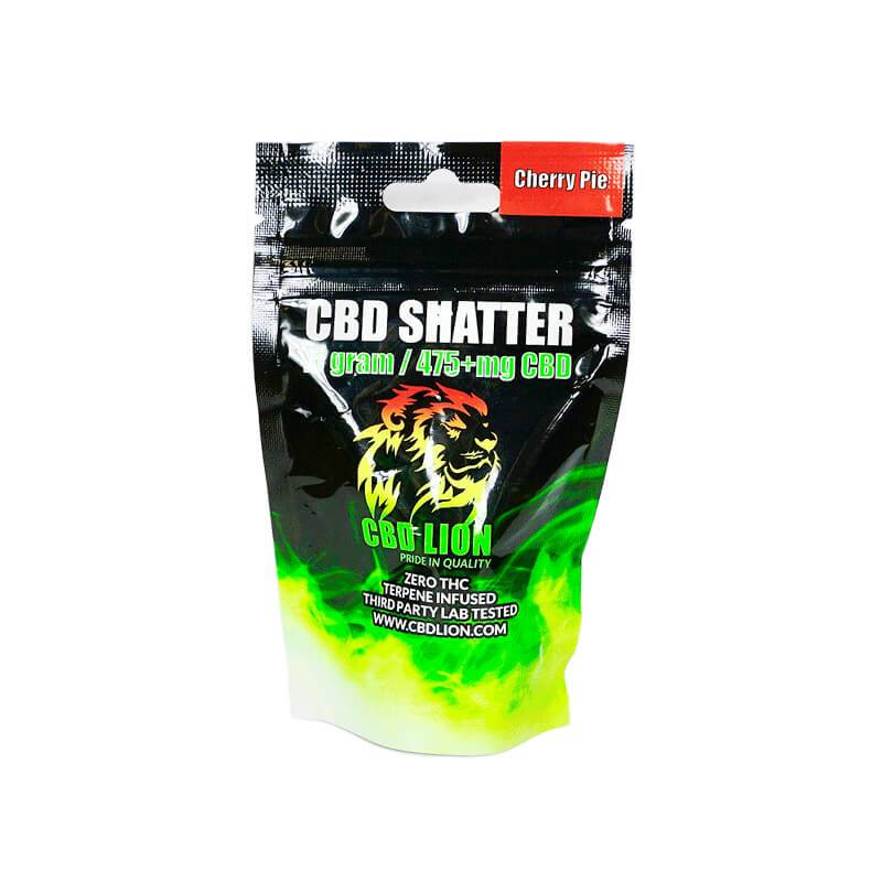 CBD Lion - CBD Concentrate - Cherry Pie Shatter - 0.5 Gram