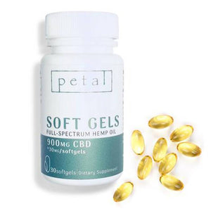 Petal - CBD Capsule - Full Spectrum Soft Gels - 30mg