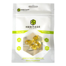 Load image into Gallery viewer, Heritage Hemp - CBD Soft Gels - 4 Count - 25mg