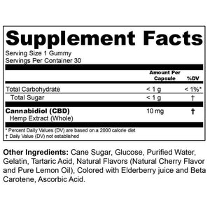 Heritage Hemp - CBD Edible - Gummie 30 Pack - 10mg-25mg
