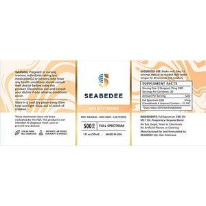 Seabedee - CBD Tincture - Anxiety Blend - 500mg