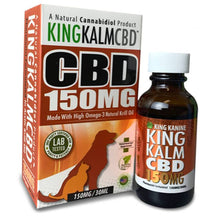 Load image into Gallery viewer, King Kalm - Pet Tincture - Omega-3 and Krill Oil - 75mg-300mg