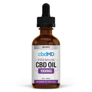 cbdMD - CBD Tincture - Broad Spectrum Berry - 300mg-7500mg