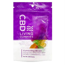 Load image into Gallery viewer, CBD Living - CBD Edible - Living Gummies 10 Count - 100mg