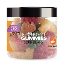 Load image into Gallery viewer, RA Royal CBD - CBD Edible - Sour Bears Gummies - 300mg-1200mg
