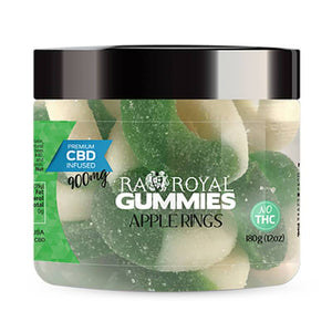 RA Royal CBD - CBD Edible - Apple Ring Gummies - 300mg-1200mg