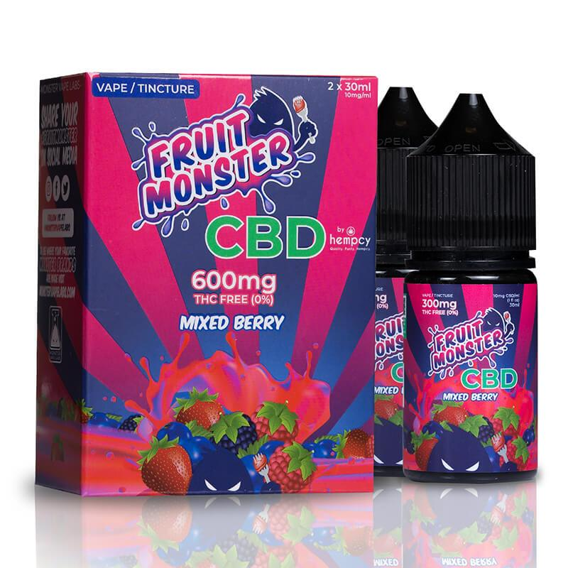 Fruit Monster CBD - CBD Vape - Mixed Berry - 600mg-2400mg