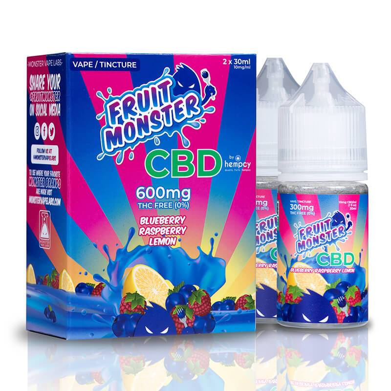 Fruit Monster CBD - CBD Vape - Blueberry Raspberry Lemon - 600mg-2400mg