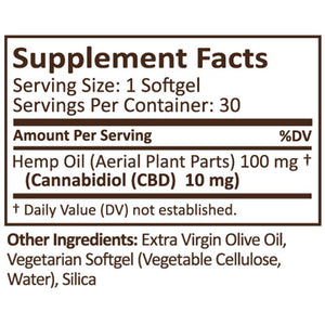 PlusCBD Oil - CBD Softgels - Green Blend Full Spectrum - 10mg