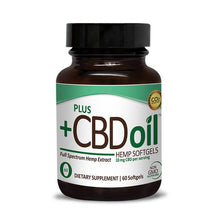 Load image into Gallery viewer, PlusCBD Oil - CBD Softgels - Green Blend Full Spectrum - 10mg