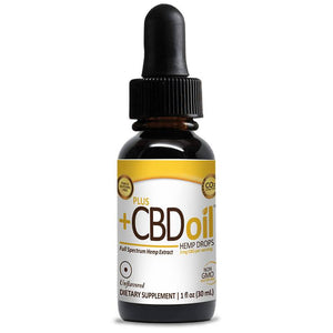 PlusCBD Oil - CBD Tincture - Gold Drops Unflavored - 250mg-1500mg