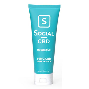 Social - CBD Topical - Muscle Rub Travel Sized - 50mg