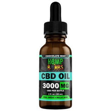 Load image into Gallery viewer, Hemp Bombs - CBD Tincture - Broad Spectrum Chocolate Mint Oil - 300mg-5000mg