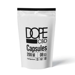 Dope CBD - CBD Capsules - Full Spectrum Caps - 200mg