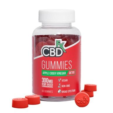 CBDfx - CBD Edible - Broad Spectrum Apple Cider Vinegar Gummies - 300mg