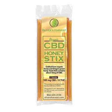 Oliver's Harvest CBD - CBD Edible - Honey Stix - 14mg
