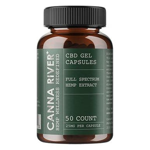 Canna River - CBD Capsules - Full Spectrum Gels with Hemp Extract - 25mg
