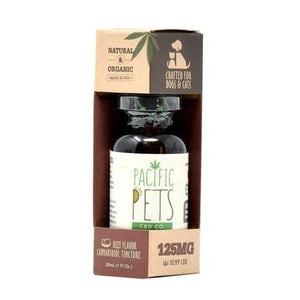 Pacific CBD - CBD Pet Tincture - Beef Flavored Drops - 125mg-250mg