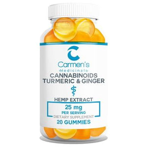 Carmen's Medicinals - CBD Edible - Full Spectrum Turmeric and Ginger Gummies - 25mg