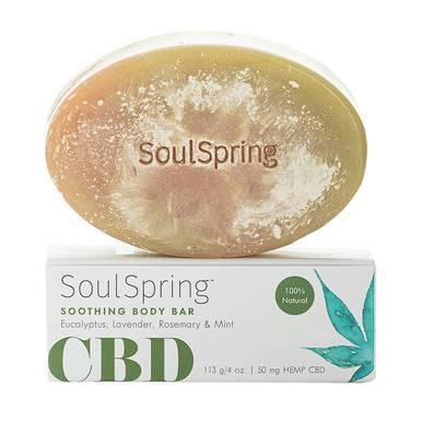 SoulSpring - CBD Bath - Soothing Body Bar - 50mg