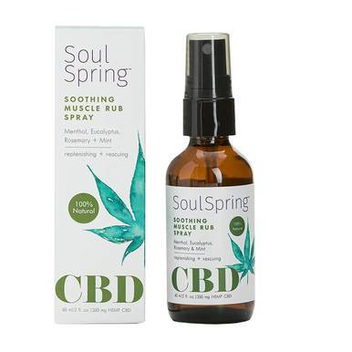 SoulSpring - CBD Topical - Soothing Muscle Rub Spray - 350mg
