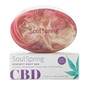 SoulSpring - CBD Bath - Serenity Body Bar - 50mg
