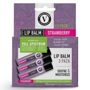 Veritas Farms - CBD Topical - Full Spectrum Strawberry Lip Balm - 25mg