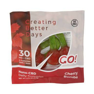 Creating Better Days - CBD Edible - Go! Nano-CBD Cherry Bombs - 30mg