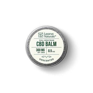 Lazarus Naturals - CBD Topical - Unscented Full Spectrum Balm - 300mg-1200mg