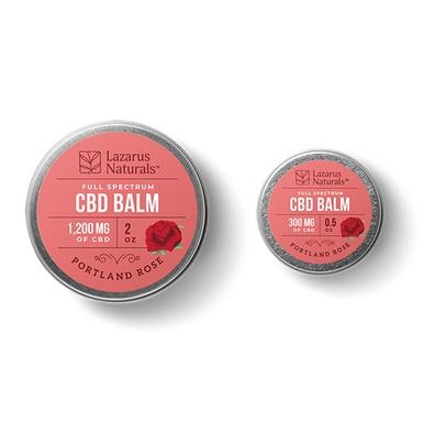 Lazarus Naturals - CBD Topical - Portland Rose Full Spectrum Balm - 300mg-1200mg