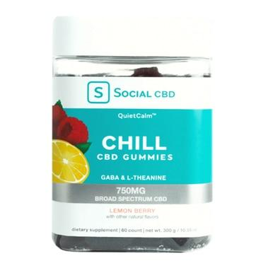 Social CBD - CBD Edible - Sleep Broad Spectrum Blackberry Mint Gummies - 750mg