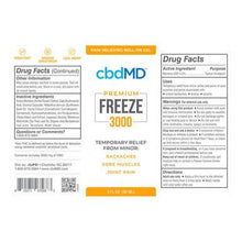 Load image into Gallery viewer, cbdMD - CBD Topical - FREEZE - 3000mg