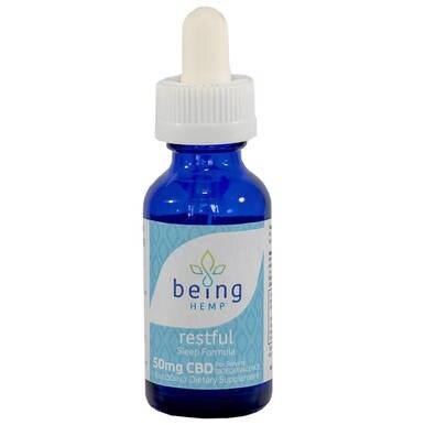 being HEMP - CBD Tincture - Restful Sleep Formula - 1500mg