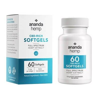 Ananda Hemp - CBD Capsules - Full Spectrum Hemp Extract - 450mg-500mg
