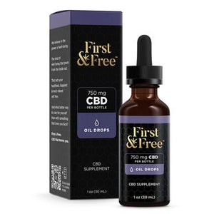 First & Free - CBD Tincture - Unflavored Oil Drops - 750mg