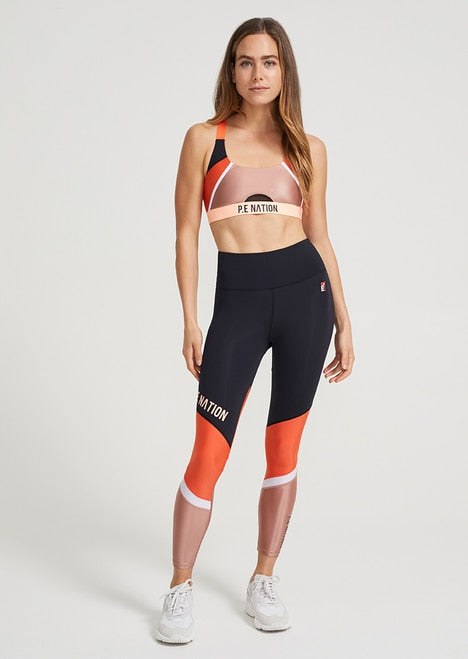 PE NATION Block Pass Sports Bra