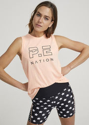 PE NATION Shuffle Twist Tank Peach Pop