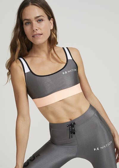 PE NATION Side Runner Sports Bra