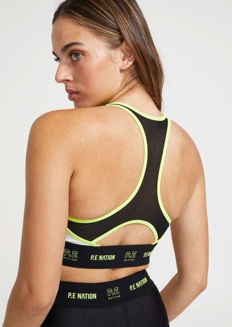 PE NATION Line Point Sports Bra